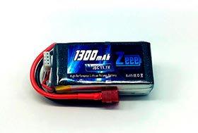3S Bateria de LiPo 11,1V 1300mAh 35C soft case com plugue JST - ZeeE