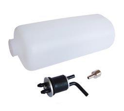 Tanque de combustível p/ glow e gas 135X51X 62mm (2 tubos)360ml Phoenix