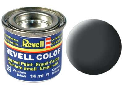 Tinta Revell - Esmalte sintético - Cinza fosco - 14ml