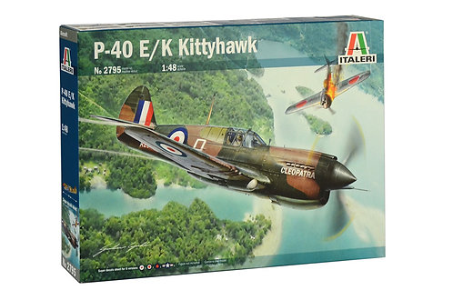 Kit para montar Curtiss P-40 E/K Kittyhawk - 1/48 - Italeri