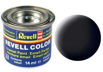 Tinta Revell para plastimodelismo - Esmalte sintético - Preto fosco - 14ml