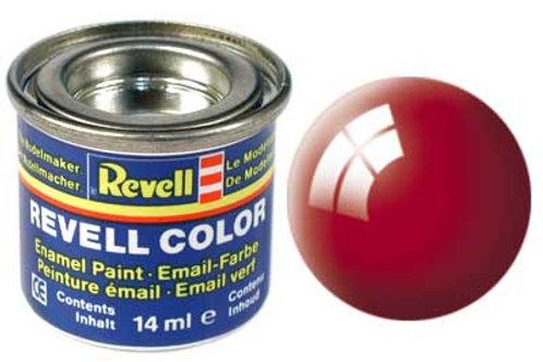 Tinta Revell para plastimodelismo - Esmalte sintético - Vermelho brilhante - 14m