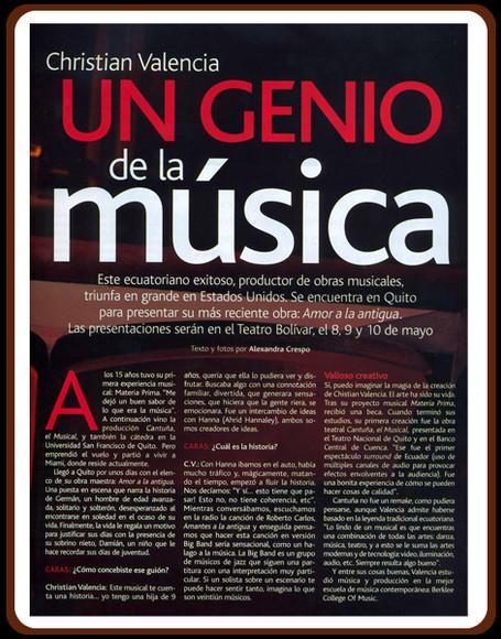 Revista Caras sobre Amante a la Antigua