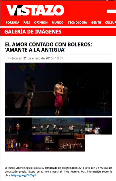 Revista Vistazo sobre Amante a la Antigua