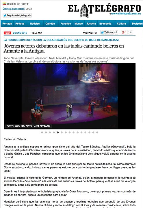 Diario El Telégrafo - Amante a La Antigua