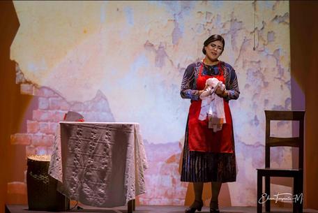 Naty Loaiza como Nancy en Julio, el musical