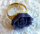 Dark Blue Rose Ring