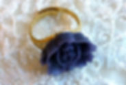 Dark Blue Rose Ring
