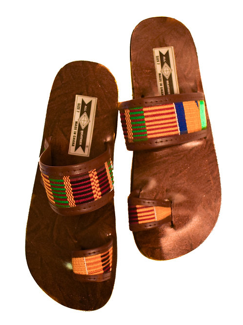 Beaded Leather Sandals-7