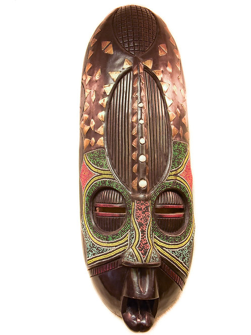 Beaded + Brass Unique Mask