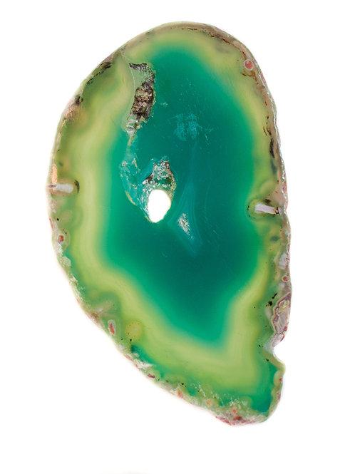 Flat Green Agates