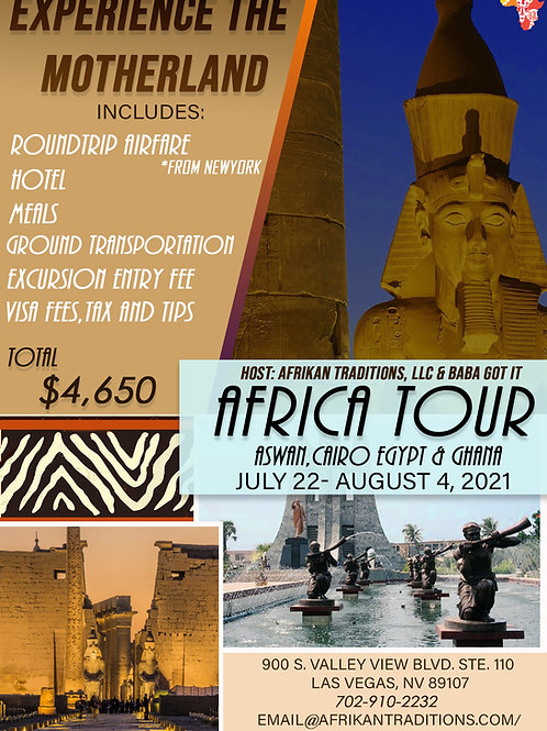 Group Tour to Afrika2021- Deposit