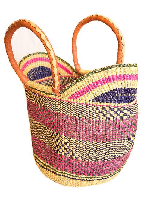High Handle Woven Basket