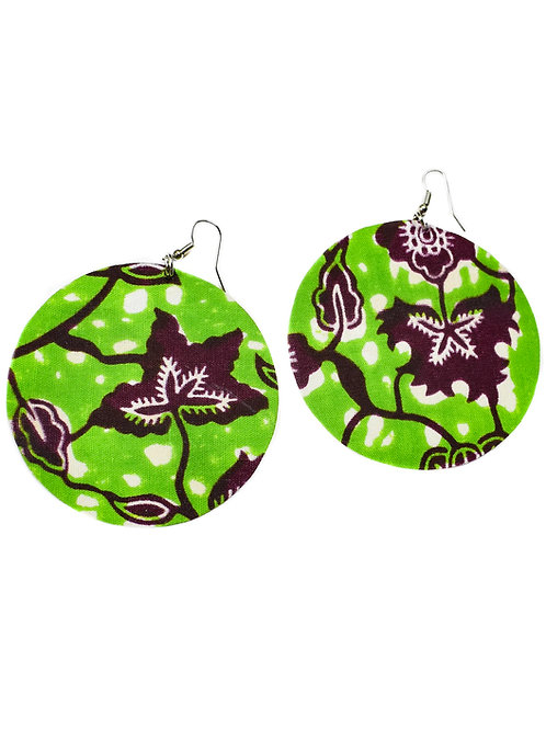 Leaf Print Cloth Earrings