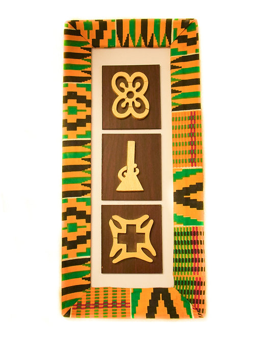 Set of 3 Afrikan Wooden Symbols