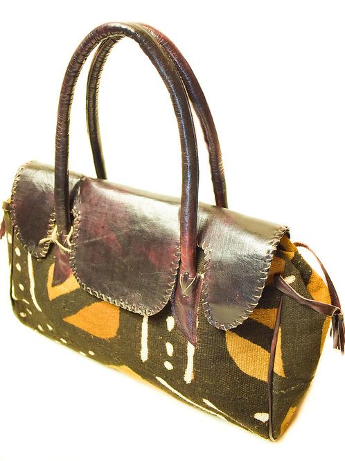Leather Medium Printed bag
