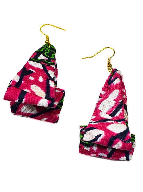 Pink Cloth Earrings