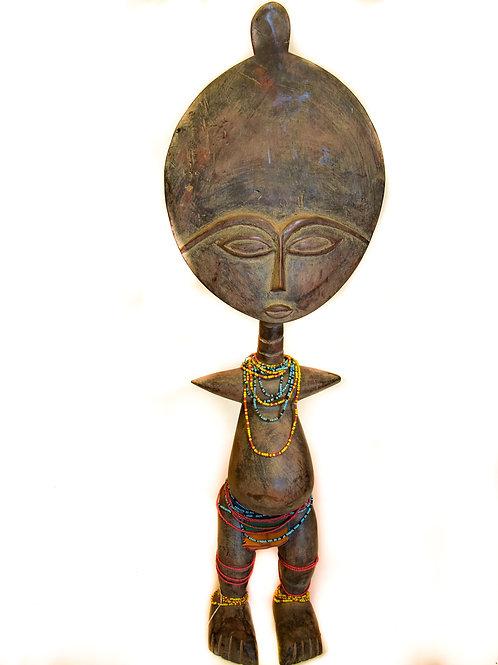 Wooden Fertility Goddess