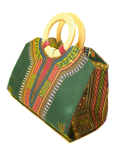 African Wooden Handle Bag