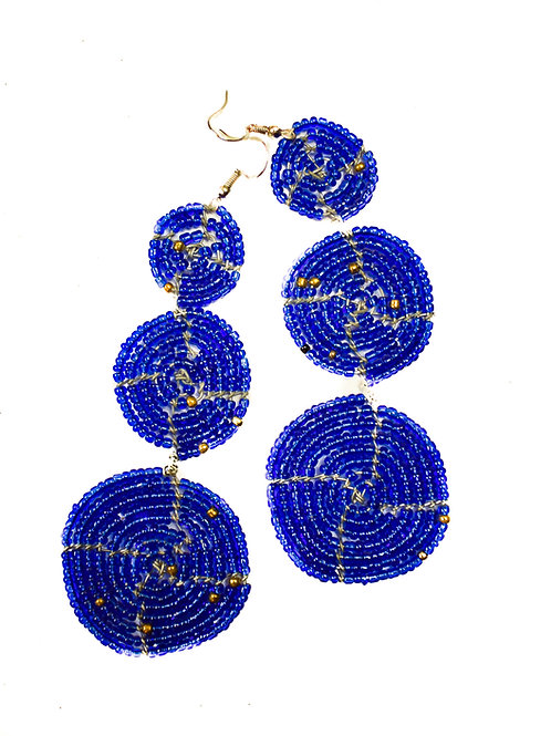 Trading Bead Circle Earrings
