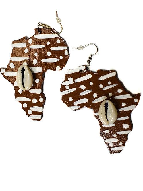 Cowrie Shell Afrika Earring
