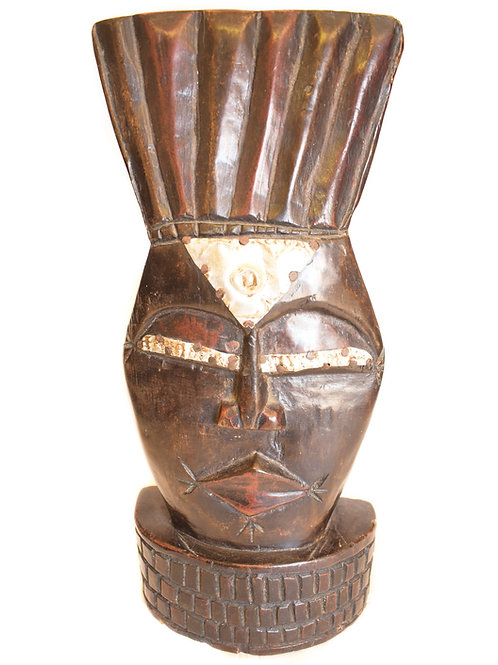 Woman Carved Wooden Mask