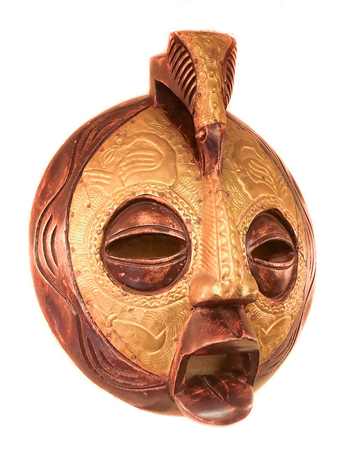Two-tone  Carved mask