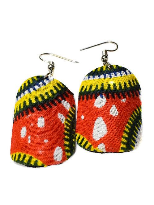 Afrikan Print Cloth Earrings