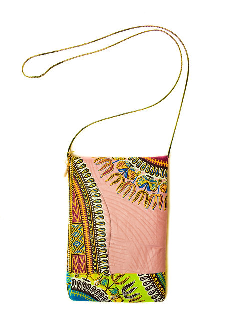 Pink Dashiki Print Cross-Bodybag