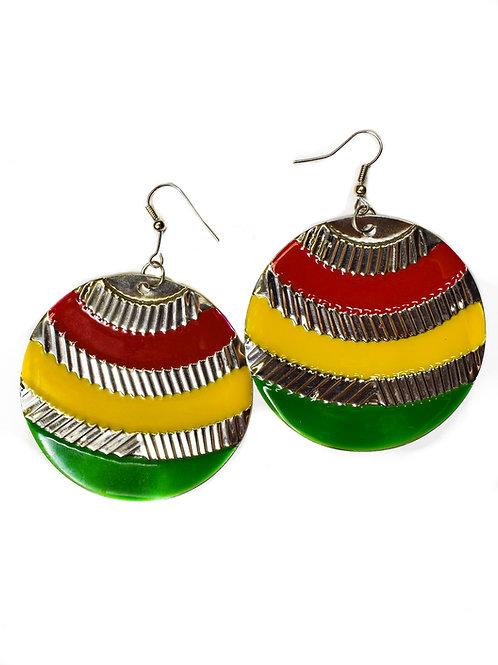 Brass Afrika Earrings & Necklace Set