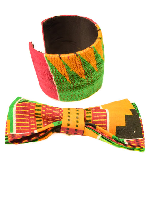 Bow Tie and Bracelet set