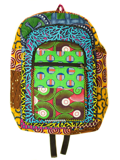 Multi-Fabric Backpack