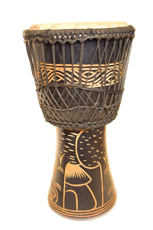 Beautiful Black Carved Drum