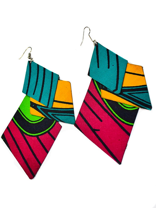 Bright Geometric Cloth Earrings