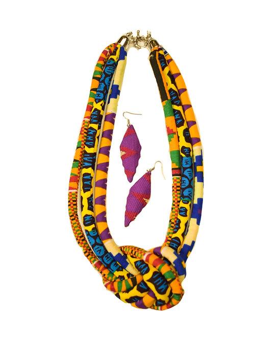 Beautiful Afrikan Print Cloth necklace