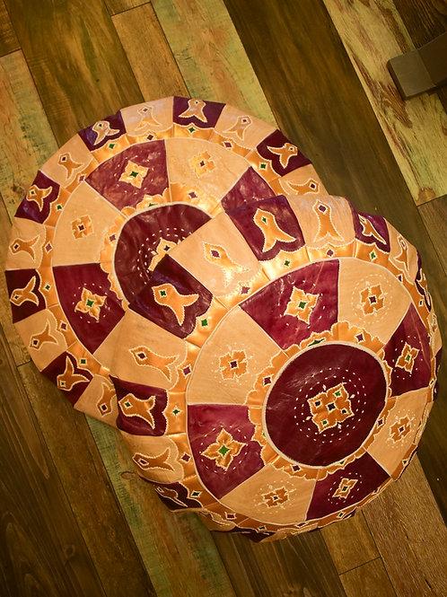Leather meditation pillow