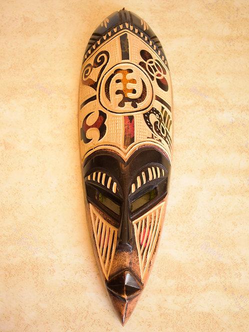 """""""I am God"""" Carved mask"""