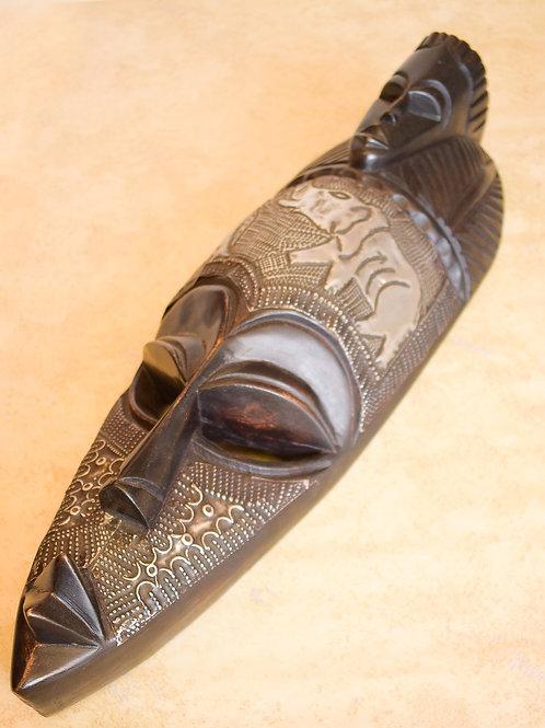 Elephant Carved Tribal Mask