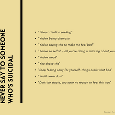 Things You Should Never Say To Someone Who's Suicidal