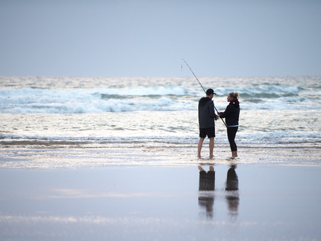 Fishing together at Venus Bay in beautiful South Gippsland