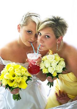 Bride-shares-drink