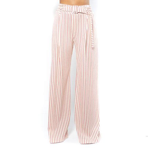 Pantaloni  a righe modello ampio