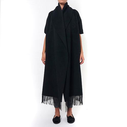 Cappa in lana con frange | Liviana Conti