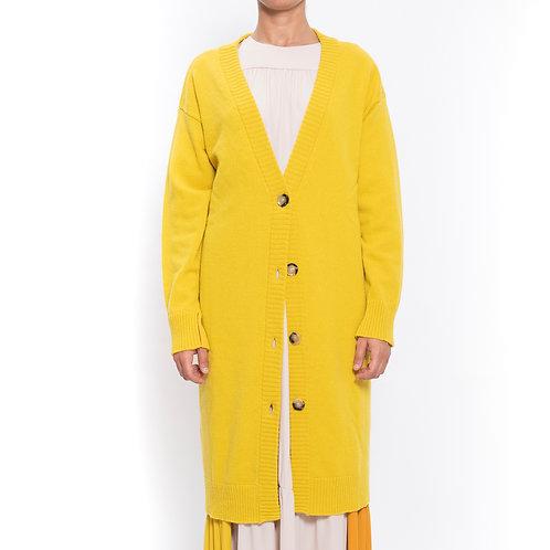 Cardigan lungo in lana