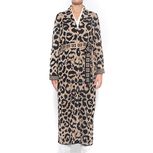 Cardigan Lungo Leopardato Hailey Menzies