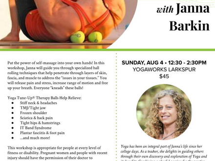 Roll and Renew - YogaWorks Larkspur - Sunday August 4, 2019 12:30-2:30