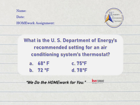 What's the Recommended Setting for an Air Conditioner's Thermostat?