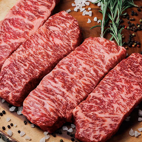 Japanese Wagyu Center Cut New York Strip Steaks, A5 Grade
