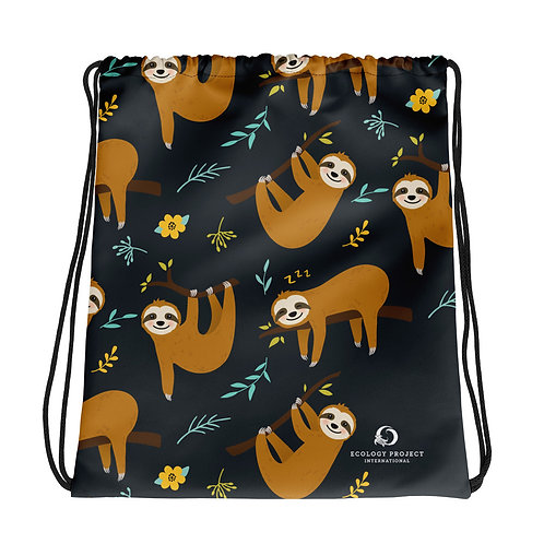 Sloth Drawstring Bag