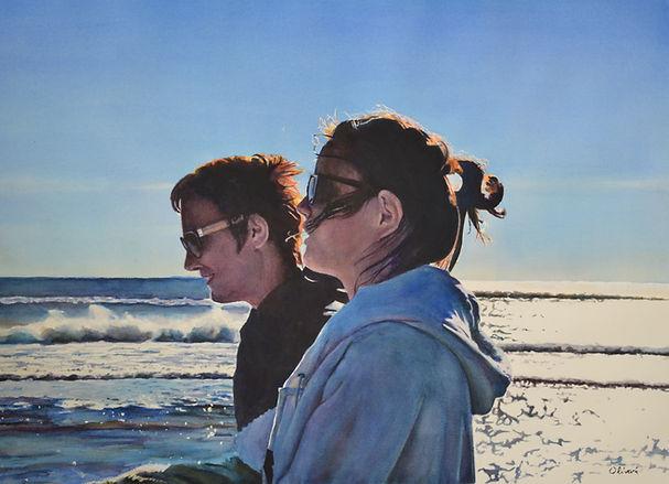 aquarelle portrait aux Saintes Maries de la mer